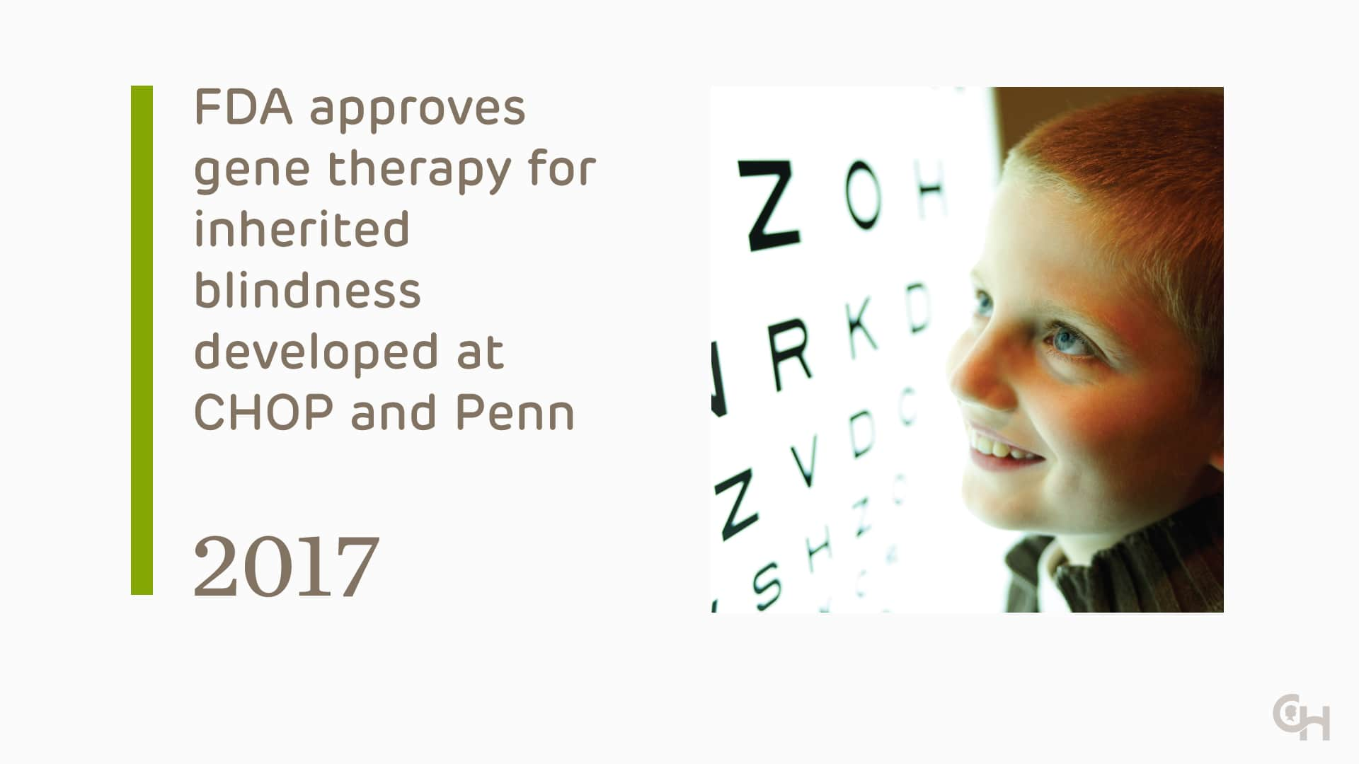 FDA approves CHOP developed gene therapy for inherited blindness - 2019